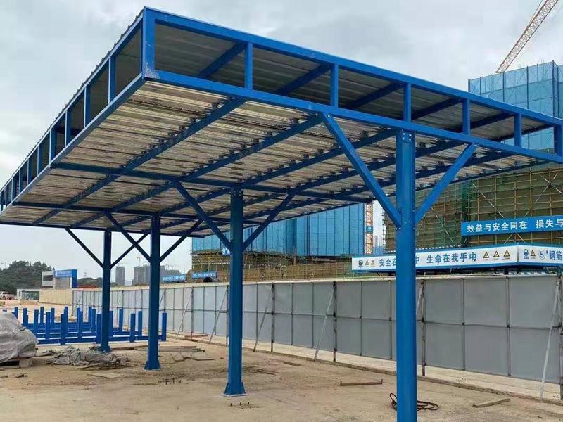 工地单立柱钢筋加工棚