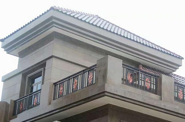 翡翠山别墅区楼顶护栏
