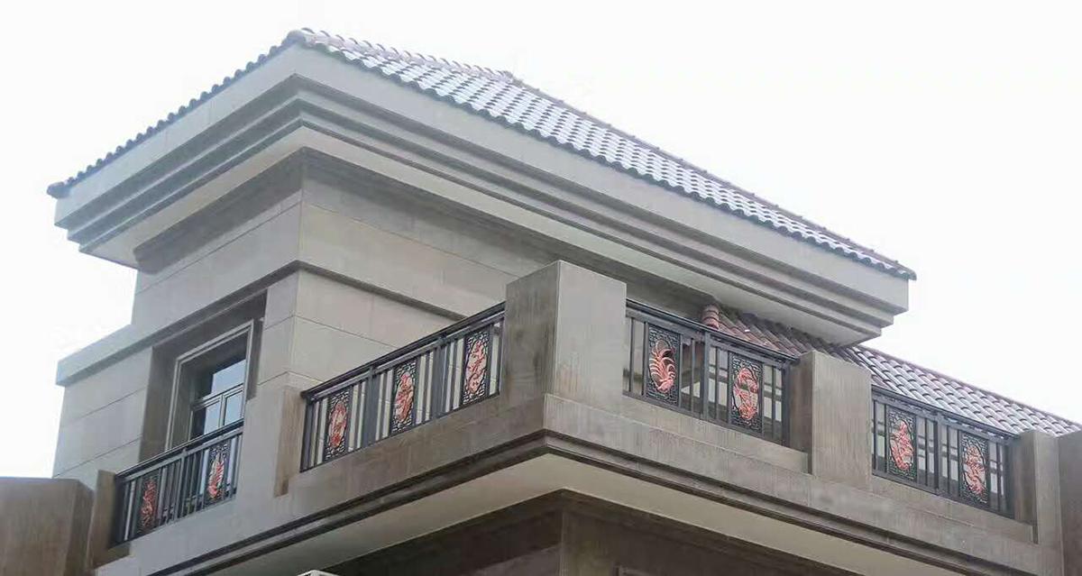 碧桂园翡翠山别墅区楼顶护栏